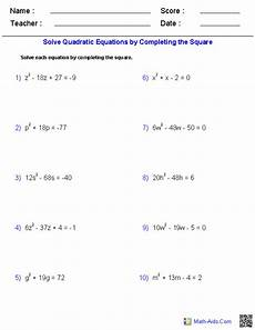 solve by completing the square worksheet algebra 1 worksheets quadratic functions worksheets