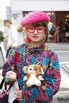 harajuku style hair bun hairstyle handbag harajuku gremlin