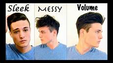 Different Ways To Style Hair Guys mens hair 3 different styles