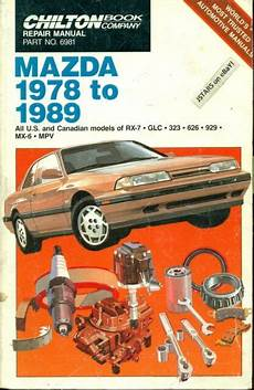 car repair manual download 1988 mazda 929 security system chilton repair manual mazda 1978 to 1989 part no 6981 rx 7 glc mx 6 mpv 929 626 for sale online