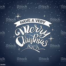 have very merry christmas message typography icon with calligraphic lettering stock illustration