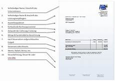 rechnungsanforderungen und alle pflichtangaben f 252 r