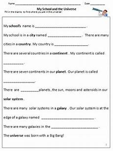 our universe galaxies solar system planets worksheets for grade 3 4