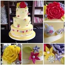 tea party roses bunting edible icing wedding birthday cake topper decorations ebay
