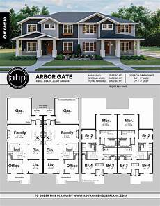 multi family house plans duplex charming craftsman duplex dreammansion in 2020