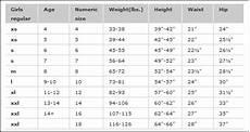 Xl Jacket Size Chart Xs S M L Xl Size Charts For Carters Oshkosh Old Navy