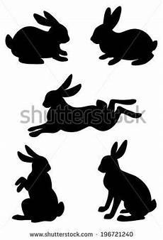 malvorlage hase silhouette vektor silhouette kaninchen hase stock vektorgrafik in