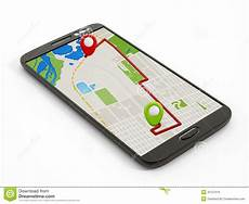 navigation map on smartphone stock photo image of