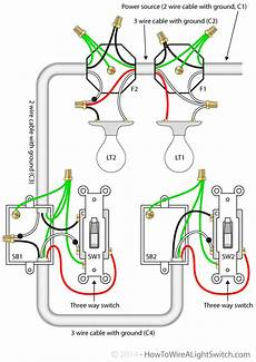 3 way switch with power feed via the light multiple lights how to wire a light switch