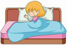 a sleeping on the bed free vectors