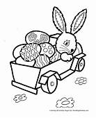 Easter Bunny With Eggs Coloring Pages  GetColoringPagescom