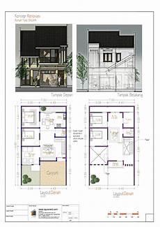 Denah Rumah Sederhana Ukuran 6x8 Desain Rumah Modern