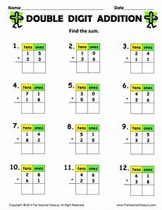 addition worksheets in 8897 free digit addition without regrouping 2 pages 12 addition problems each these