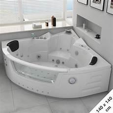 baignoire place baignoire d angle baln 233 o 140x140 maeva baignoire baln 233 o d angle avec cascade 140x140