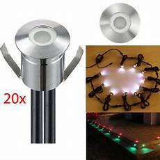 20pcs 12v Led Deck Inground Spot Light Rgb 22mm Recessed