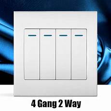 4 2 way white wall switch random click push button wall light switch with panel switch