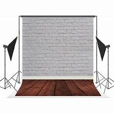 5x7ft White Gray Brick Wall Floor by 5x7ft White Brick Wall Wood Floor Photography Backdrops
