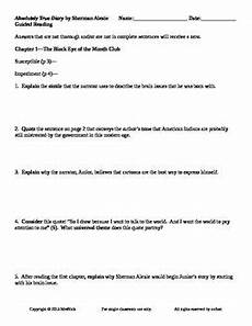 part time worksheets 3051 absolutely true diary of a part time indian s alexie guided reading worksheets guided