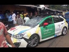 Google Street View Car In Triple Accident Jakarta  YouTube