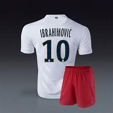 zlatan ibrahimovic psg away white soccer jerseys
