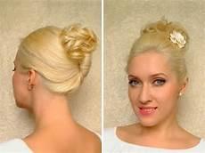 easy work updo hairstyle for medium shoulder length hair