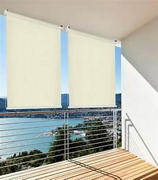 sichtschutz für balkon hecht balkonsichtschutz rollo beige lxb 140x140 cm