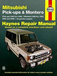 hayes auto repair manual 1984 mitsubishi tredia navigation system mitsubishi pickup trucks montero 2wd 4wd 1983 1996 1563921928 9781563921926 haynes