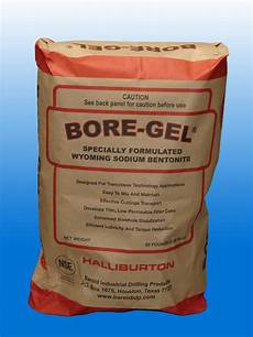 Bore Gel Mixing Chart Bore Gel Bentonite Directional Drilling Fluid By Baroid 50