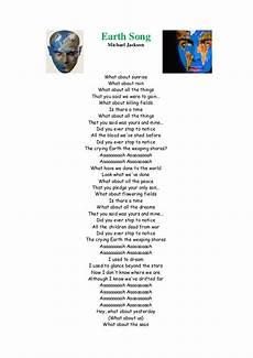 Malvorlagen Jackson Lyrics Earth Song Michael Jackson