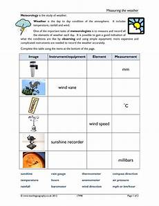 weather instruments worksheets 14579 ready made magnet activities teachit geography