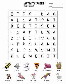 animal word search worksheets 14374 activity shelter