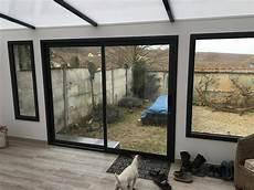 baie vitrée pvc 5914 baie vitr 233 e aluminium 224 deux ouvrants menuiseries nos menuiseries chez nos clients