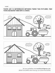 spot the difference printable worksheets for kindergarten colorings net