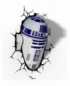 star wars r2 d2 3d led wall light bedroom lighting
