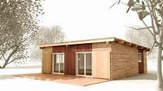combien coute une maison ossature bois maison en bois plain pied prix maison parallele