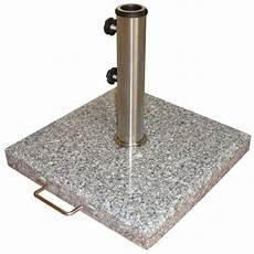 Pied De Parasol En Granit Avec Roues 21kg