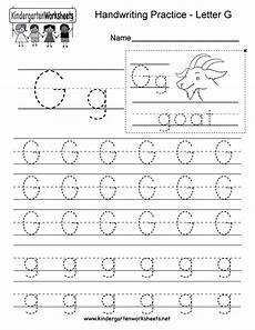writing worksheets letter g letter g writing practice worksheet free kindergarten english worksheet for kids
