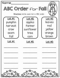 abc order worksheets 15559 abc order for fall word work popsicles colors and code for