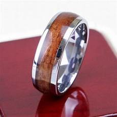 tungsten nature inlay 8mm mens ring wedding band all size m36 ebay