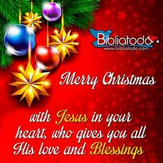 merry christmas with jesus in your heart who gives you all his love and blessings christian