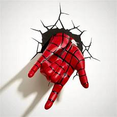 marvel spider man hand 3d wall mounted deco light menkind