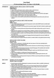 resume sle special education teacher special