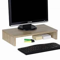 support ecran bureau support d 233 cran d ordinateur monitor en m 233 lamin 233 d 233 cor ch 234 ne sonoma mobil meubles