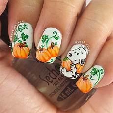 the great pumpkin diy fall nail art ideas popsugar