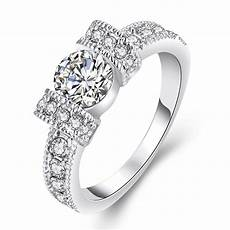 t4 2016 fashion wedding rings silver plated golden the