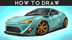 Gt86 Rocket Bunny - how to draw a toyota gt86 rocket bunny step by step