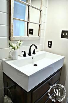 bathroom basin ideas farmhouse powder room reveal stonegable