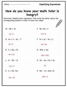 algebra worksheets combining like terms 8345 pre algebra worksheet simplifying expressions distribute combine like terms