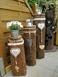 dekorieren mit holz holzbalken deko garten decorating garden deco garden