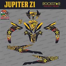 jual sticker striping motor stiker yamaha jupiter z1 rockstar kuning spec a di lapak arfan